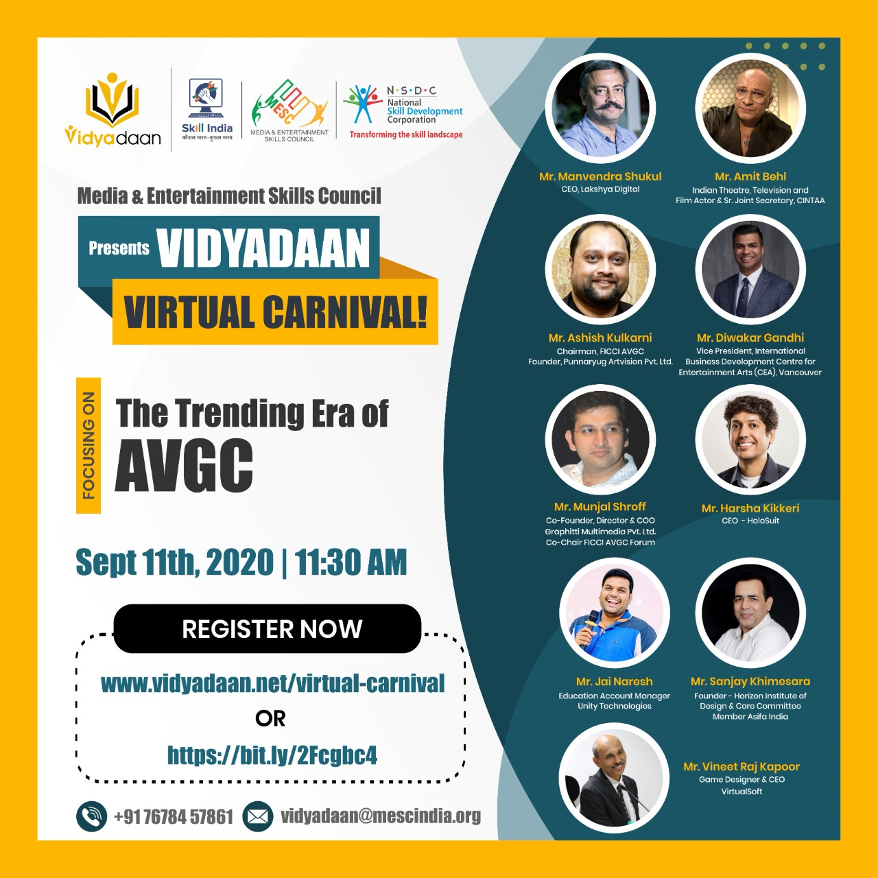 The Trending Era of AVGC - Speaker Vineet Raj Kapoor Vidyadaan carnival